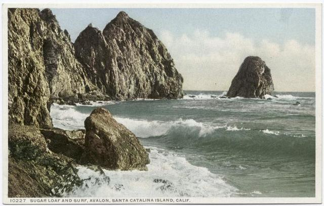 Sugar Loaf and Surf, Avalon, Santa Catalina, Calif.