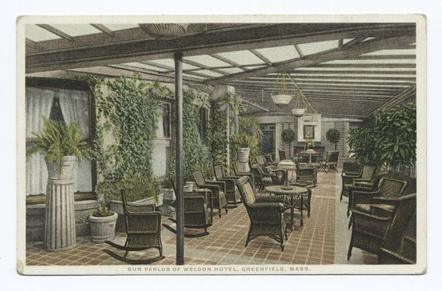 Sun Parlor of Weldon Hotel, Greenfield, Mass.