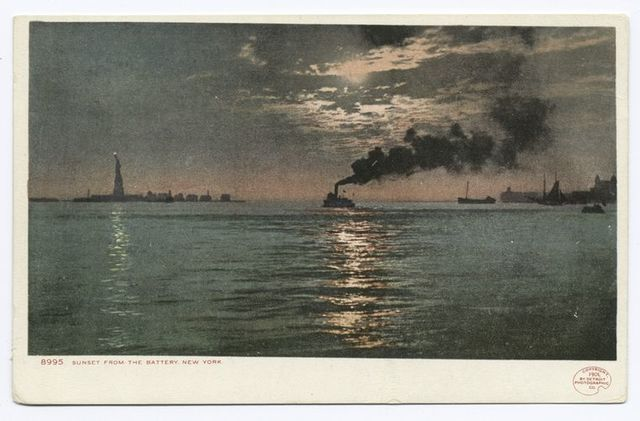 Sunset from the Battery (or Moonlight), New York, N. Y.