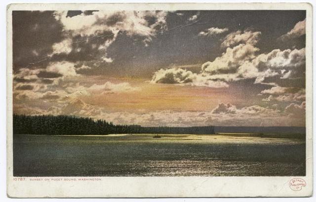Sunset on Puget Sound, Tacoma, Wash.
