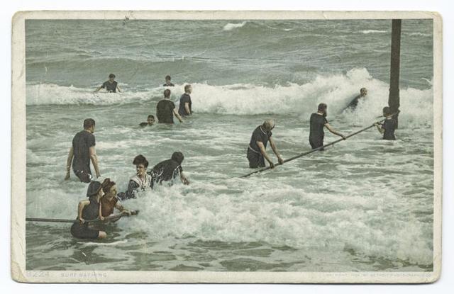 Surf Bathing, Palm Beach, Fla.