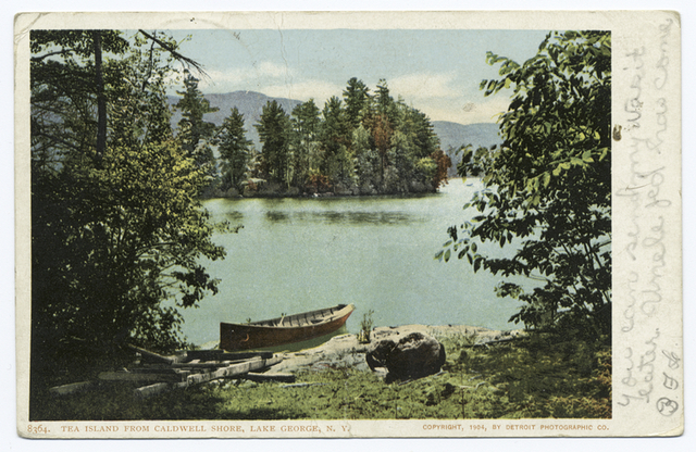 Tea Island from Caldwell Shore, Lake George, N. Y.