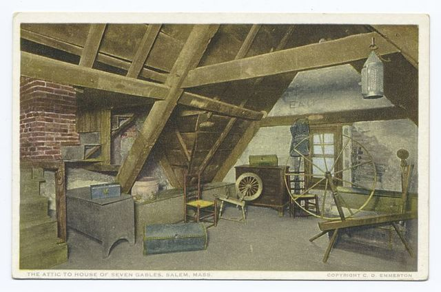 The Attic to House of Seven Gables, Salem, Mass.