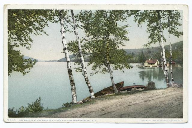 The Birches at Oak Birch Inn, Alton Bay, Lake Winnipesaukee, N. H.
