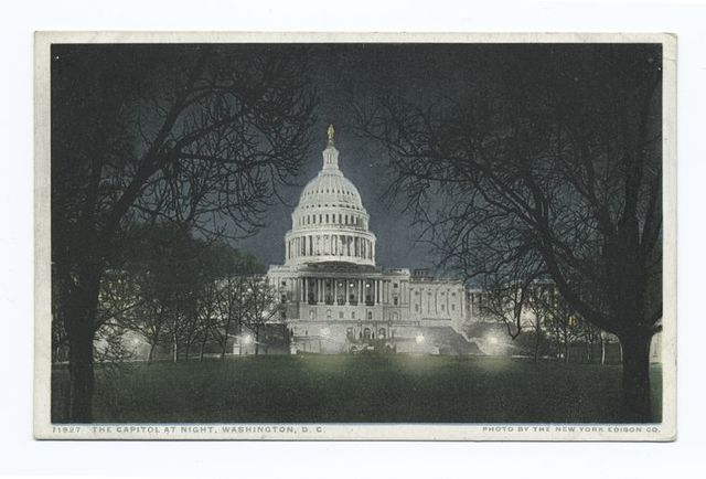 The Capitol at Night, Washington, D. C.