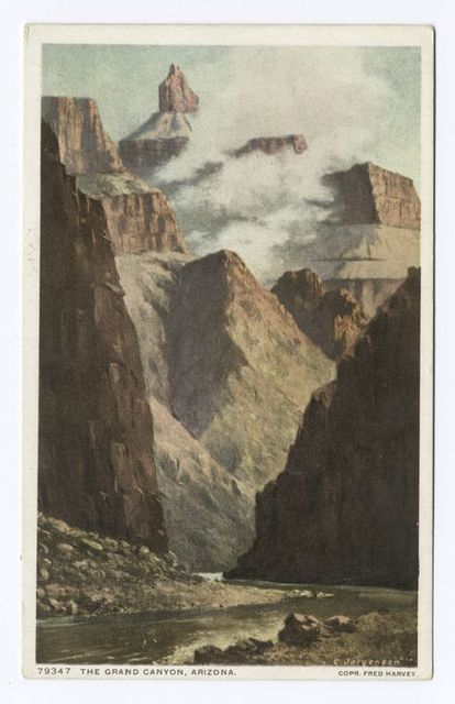 The Grand Canyon, Arizona (vertical view) (clouds), Grand Canyon, Ariz.