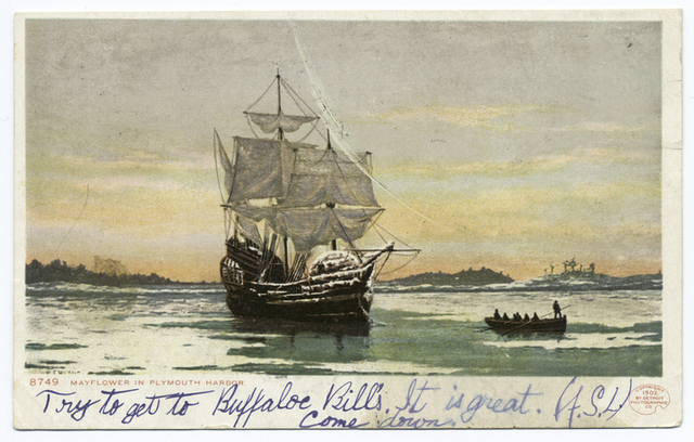The Mayflower in Plymouth Harbor, Plymouth, Mass.