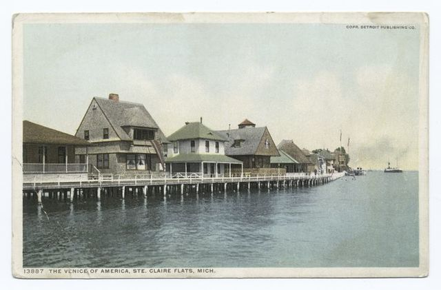 The Venice of America, Ste. Claire Flats, Mich.