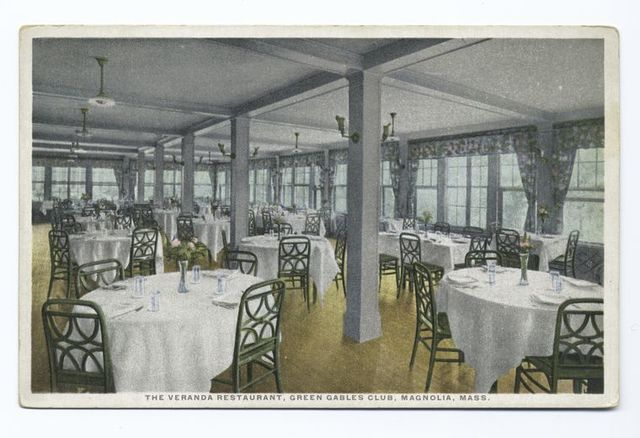 The Veranda Restaurant, Green Gables Club, Magnolia, Mass.