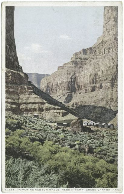 Towering Canyon Walls, Hermit Camp, Grand Canyon, Ariz.