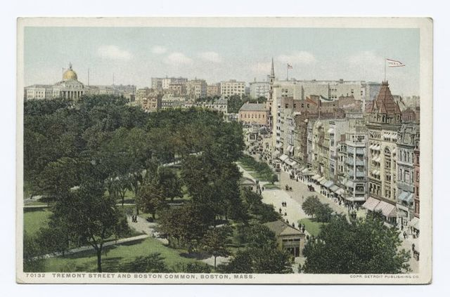 Tremont Street and Boston Common, Boston, Mass.