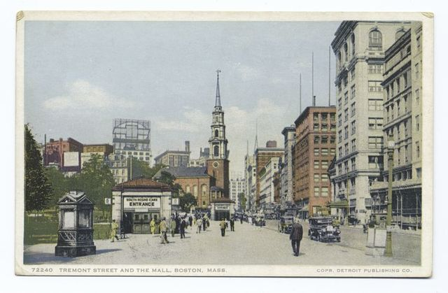 Tremont Street and the Mall, Boston, Mass.