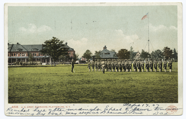 U. S. Army Barracks (with troops) , Plattsburgh, N. Y.