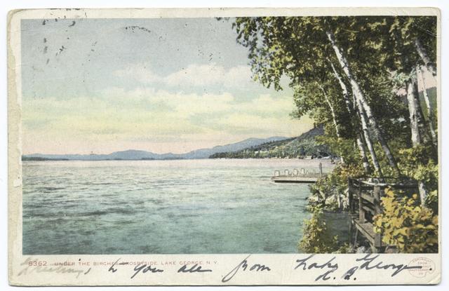 Under the Birches, Crosbyside, Lake George, N. Y.