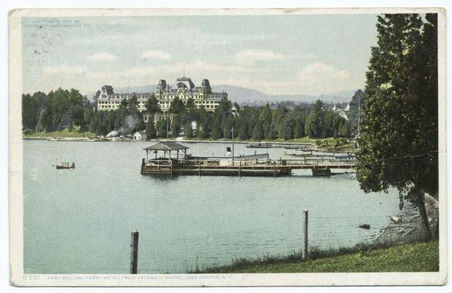 View from Caldwell, Fort Wm. Henry Hotel, Lake George, N. Y.