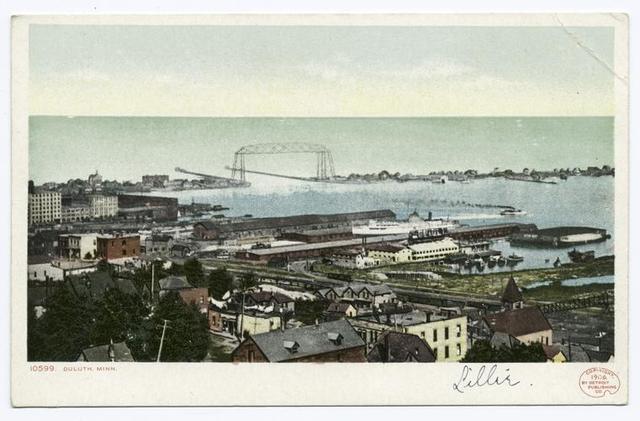 View (Harbor, Pier, Bridge), Duluth, Minn.