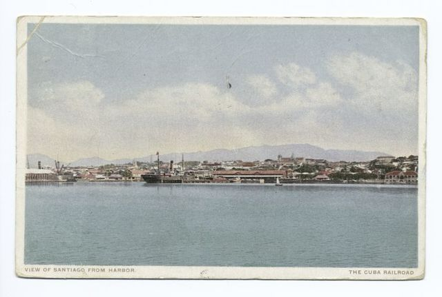 View of Santiago from Harbor, The Cuba Rail Road, Ships