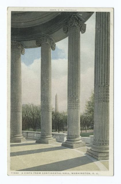 Vista from Continental Hall, Washington, D. C.