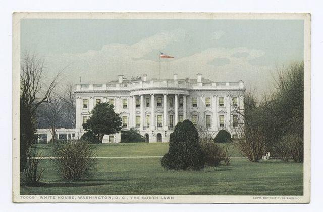 White House, The South Lawn, Washington, D. C.