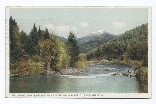 Whiteface Mountains and Ausable River, New York