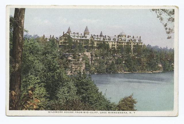Wildmere House from Mid-Cliff, Lake Minnewaska, N.Y.