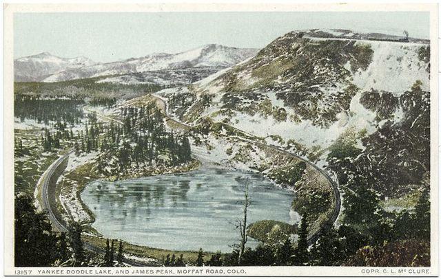 Yankee Doodle Lake and James Peak, Moffat Road, Colorado