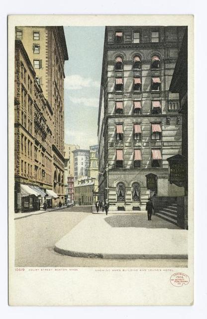 Young's Hotel, Ames Building, from Court Street, Boston, Mass.