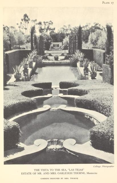 "The Vista to the Sea, ""Las Tejas"", Estate of Mr. and Mrs. Oakleigh Thorne, Montecito"