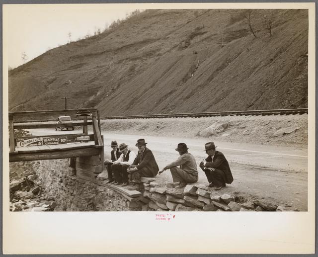 Coal slack pile near Omar, West Virginia
