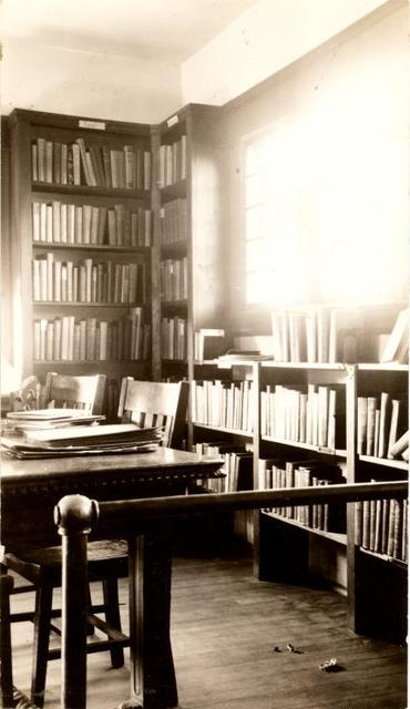 [Great Kills, Desk and shelves.]
