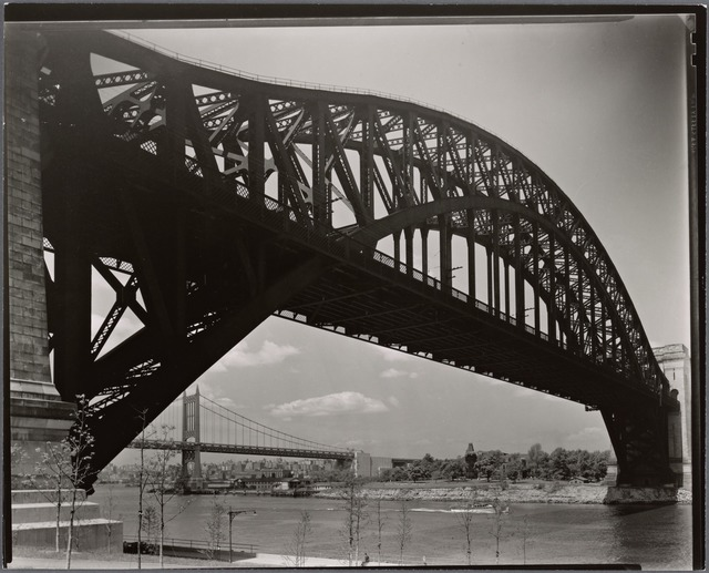Hell Gate Bridge, inverted, Astoria, Queens.
