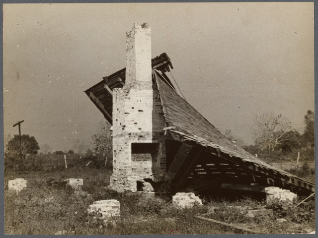 Remains of old Gulf States paper mill, Plaquemines Parish, Louisiana