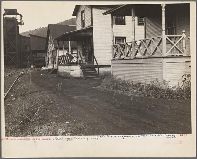 Scotts Run, mining town. [Monongalia County,] West Virginia