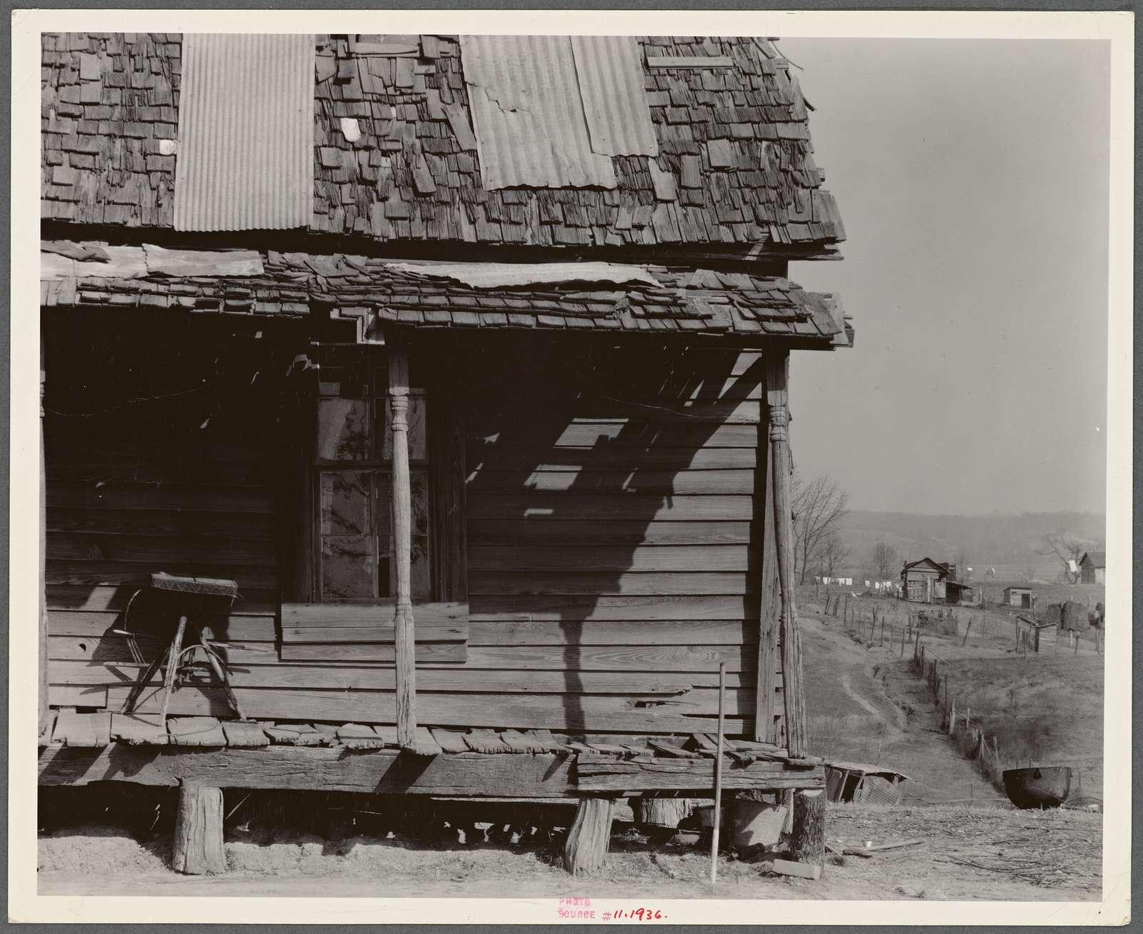 Detail of Negro house. Tupelo, Mississippi
