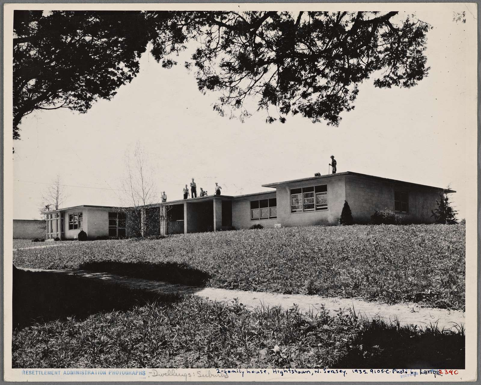 Hightstown, New Jersey. Type house. 2 family. Incomplete. Ready for occupancy July, 1936