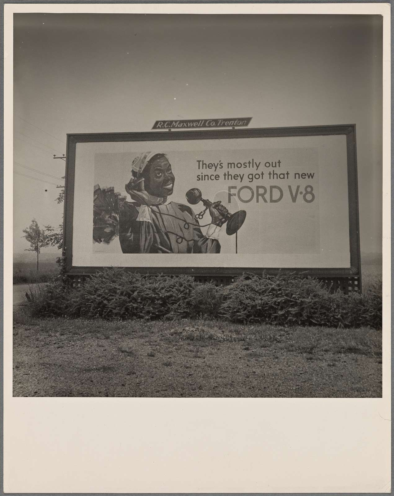 Road sign. Ford Nat'l advertising campaign. A note on social trends