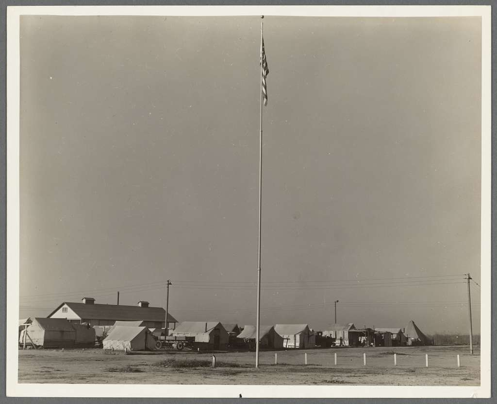 General view of Kern migrant camp, California