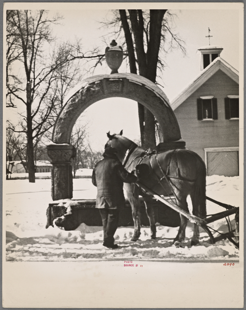 Watering trough, Lancaster, New Hampshire.