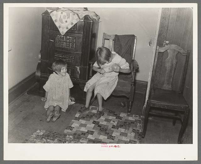 Children of the Hall family. Near Alamo, North Dakota