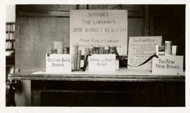 "[Muhlenberg, Exhibit: ""Support the Library's 1938 Budget Request!"".]"