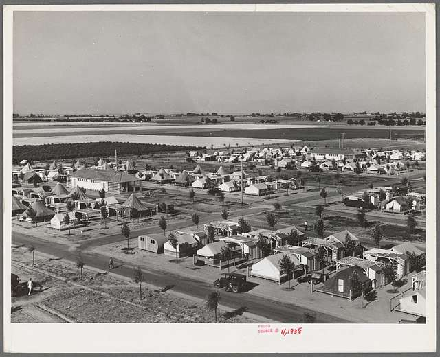 Farm Security Administration camp for migrant agricultural workers at Shafter, California