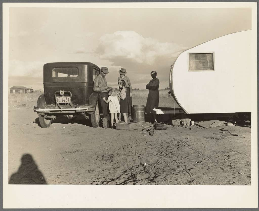 Migratory family from Louisiana, been in California eighteen months now on Works Progress Administration (WPA), receives fifty-five dollars a month. No house available in nearest town under twenty dollars a month
