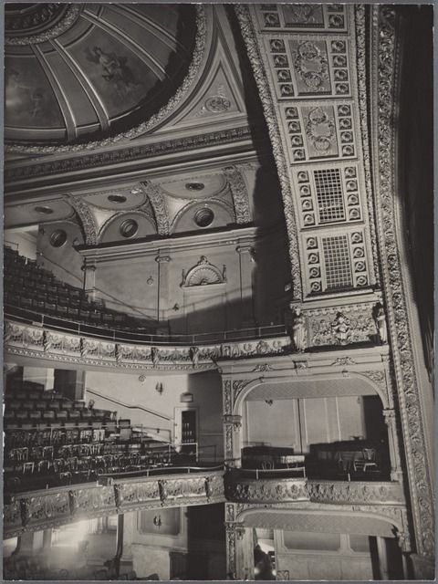 Fifth Avenue Theater interior, showing orchestra, boxes, first and second balconies, 1185 Broadway, Manhattan.