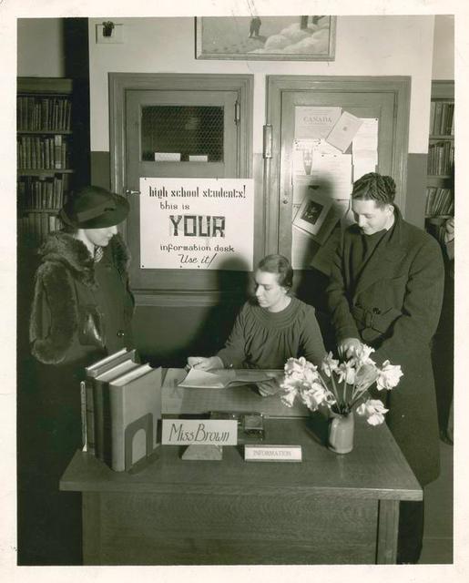 [Information Desk, Fordham Branch.]