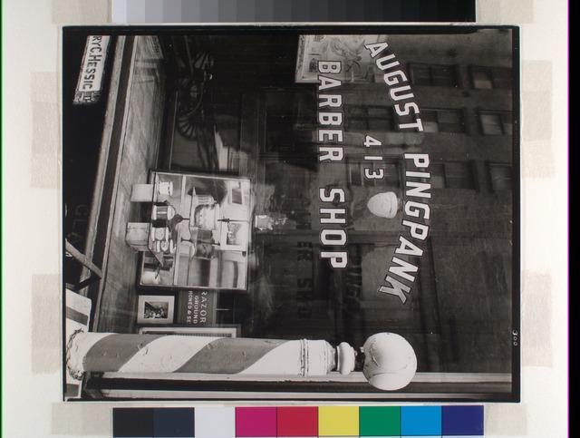 Pingpank Barber Shop, 413 Bleecker Street, Manhattan.