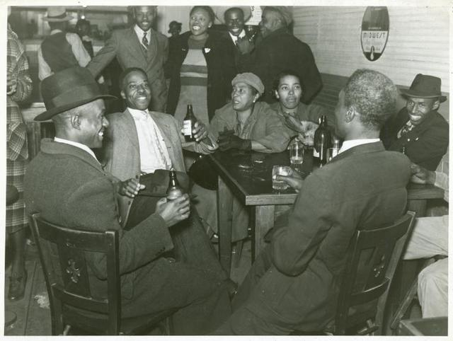 Saturday afternoon in a negro beer and juke joint, Clarksdale, Mississippi Delta, November 1939.
