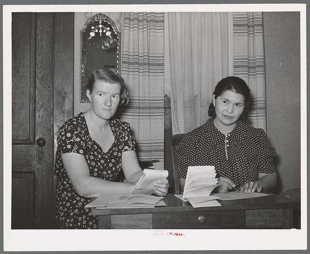 President and secretary of home demonstration club. McIntosh County, Oklahoma
