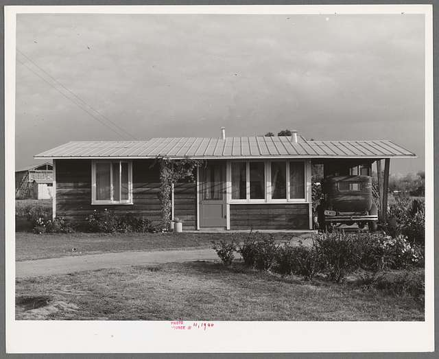 House for member of the Mineral King cooperative farm. Tulare County, California