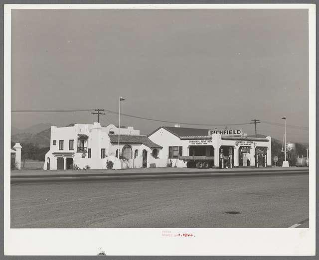 Filling station. Solano County, California