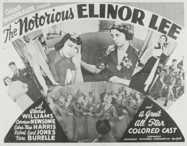 """Lobby card for Oscar Micheaux's 1940 motion picture """"The Notorious Elinor Lee"""""""